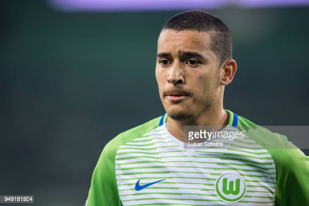 William de Asevedo Furtado of Wolfsburg looks up during the Bundesliga match between Borussia Moenchengladbach and VfL Wolfsburg at BorussiaPark on...