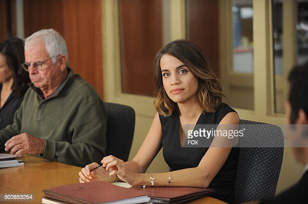 William Devane and Natalie Morales in the The Curious Disappearance of Mr Donovan episode of THE GRINDER airing Tuesday Oct 20 on FOX