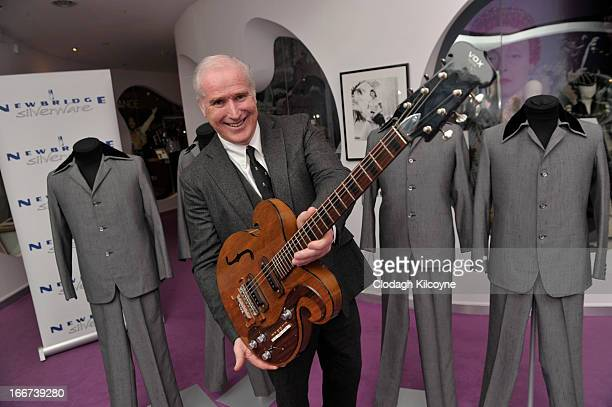 William Doyle CEO of Newbridge Silverware displays a rare Vox guitar played by George Harrison and John Lennon which is exhibited at the Newbridge...