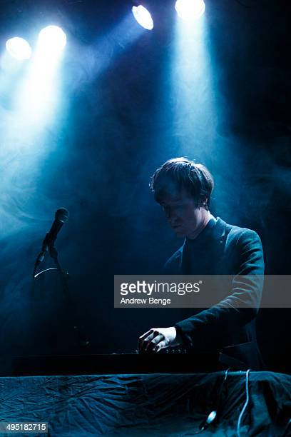 William Doyle of East India Youth performs on stage at Belgrave Music Hall on June 1, 2014 in Leeds, United Kingdom.