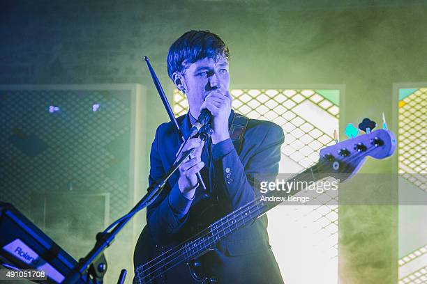 William Doyle of East India Youth performs on stage at Headrow House on October 2, 2015 in Leeds, England.