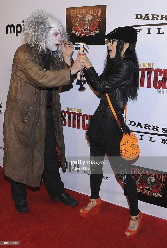 William Draven and Bai Ling attend 'Stitches' - Los Angeles Premiere at Cinespace on April 1, 2013 in Los Angeles, California.