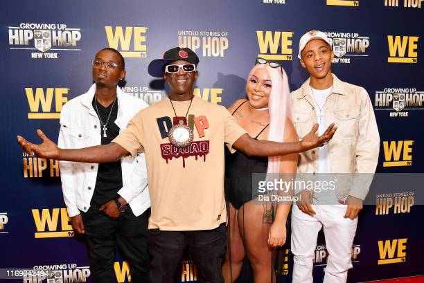 William Draymond Jr Flavor Flav Da'zyna Draymond and H2Flee attend as WEtv celebrates the premieres of Growing Up Hip Hop New York and Untold Stories...