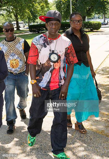 William Drayton also know as Flavor Flav appears at court for a hearing after his arrest on January 9 2014 for speeding and driving under several...