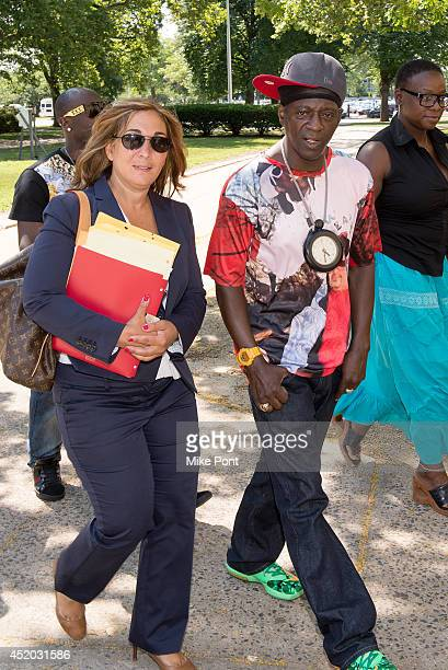 William Drayton also know as Flavor Flav appears with attorney Indji Bessim in court for a hearing after his arrest on January 9 2014 for speeding...