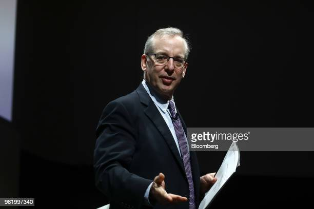 William Dudley president and chief executive officer of the Federal Reserve Bank of New York delivers a speech during the Bank of England's Markets...