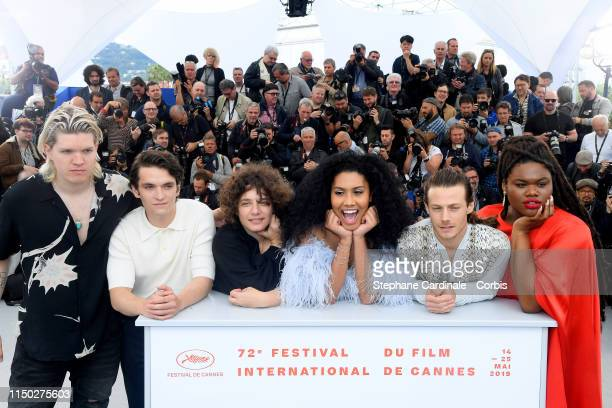 William Dufault Fionn Whitehead Danielle Lessovitz Lenya Bloom McCaul Lombardi and Jari Jones attends the photocall for Port Authority during the...