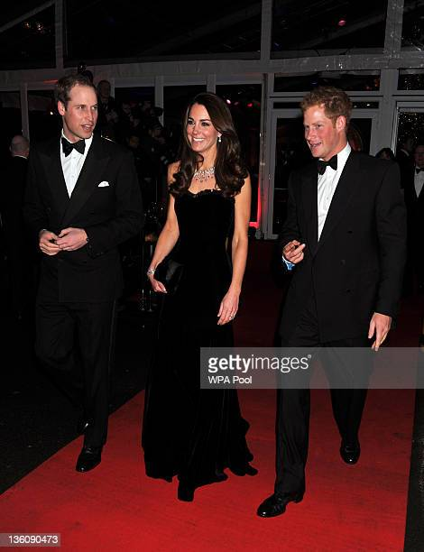 William Duke of Cambridge Catherine Duchess of Cambridge and Prince Harry attend The Sun Military Awards at Imperial War Museum on December 19 2011...