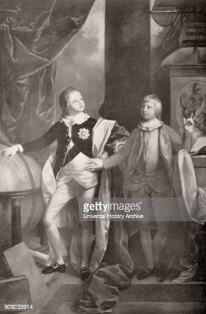 William Duke of Clarence later King William IV 1765 – 1837 and his younger brother The Prince Edward Duke of Kent and Strathearn 1767 – 1820 father...