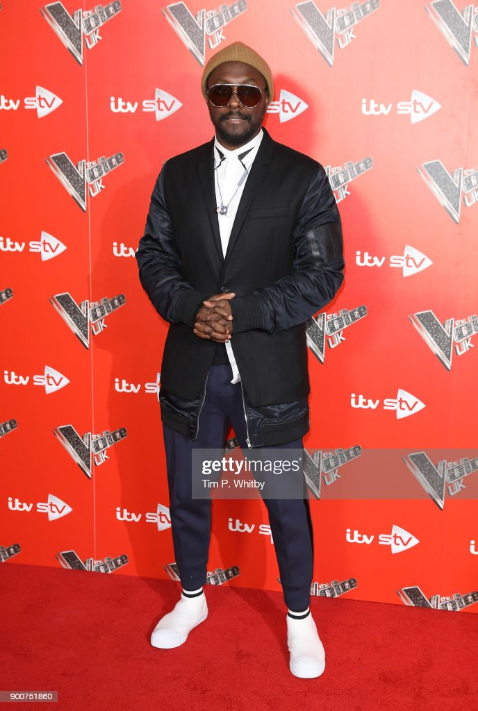 will.i.am during The Voice UK Launch photocall held at Ham Yard Hotel on January 3, 2018 in London, England.