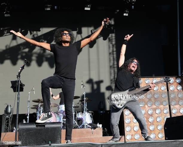 William DuVall and Mike Inez of Alice In Chains perform in concert during KAABOO Del Mar at Del Mar Fairgrounds on September 16 2018 in Del Mar...