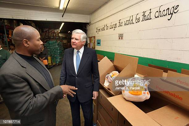 William E Conway Jr visited the Capital Area Food Bank in Washington DC November 22 to meet employees and volunteers who work at the warehouse He is...