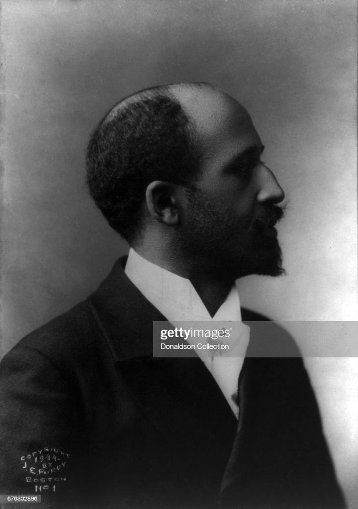 William Edward Burghardt Du Bois aka W.E.B Du Bois poses for a portait in profile facing to the right in 1904 in Boston, Massachusetts..
