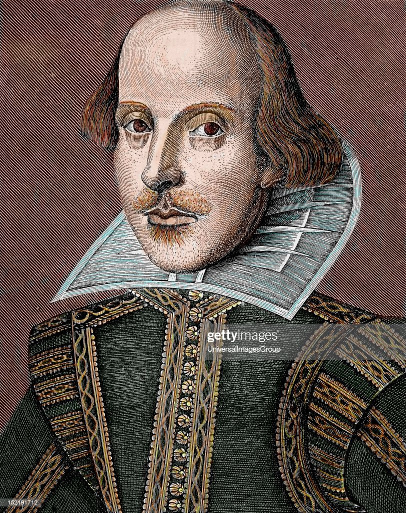 SHAKESPEARE, William (Stratford-on-Avon ,1564-1616), English writer, The nineteenth century colored engraving.