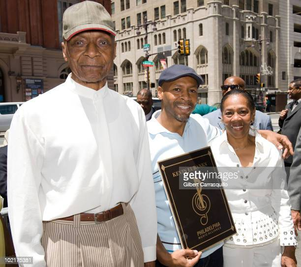 William Eubanks Kevin Eubanks and Vera Eubanks attend Kevin Eubanks' plaque unveiling on the Philadelphia Walk Of Fame on June 17 2010 in...
