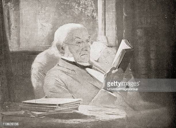 William Ewart Gladstone 18091898 in old age Statesman and orator From the portrait by J McLure Hamilton 1890 From the book VRI Her Life and Empire by...