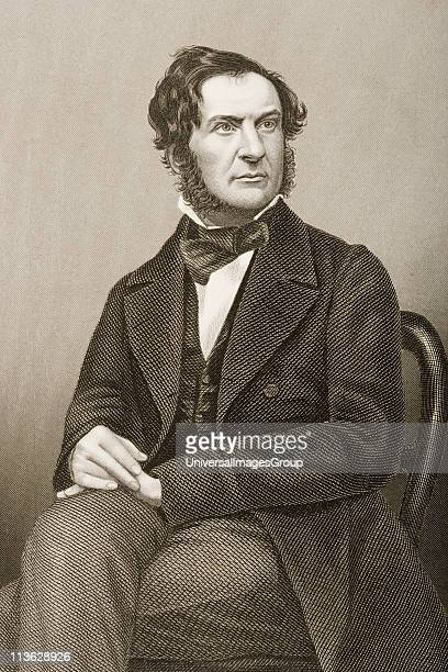 William Ewart Gladstone,1809-1898. English Chancellor of the Exchequer, statesman and four-time prime minister of Great Britain .Engraved by...