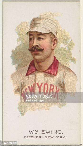 William Ewing Baseball Player Catcher New York from World's Champions Series 2 for Allen Ginter Cigarettes 1888 Artist Allen Ginter