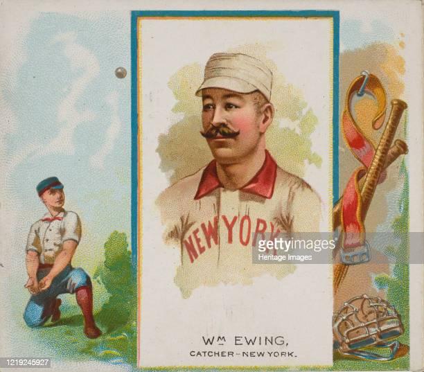 William Ewing Catcher New York from World's Champions Second Series for Allen Ginter Cigarettes 1888 Artist Allen Ginter