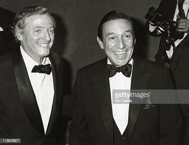 William F. Buckley Jr. And Mike Wallace during Friars Club Testimonial Dinner Honoring Henry Kissinger at Waldorf Astoria Hotel in New York City, New...
