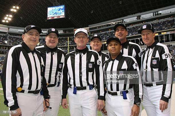 William F Carollo Line Judge Gary Arthur Head Linesman John Schleyer Field Judge Bill Lovett Umpire Bill Schuster Side Judge James Coleman and Back...