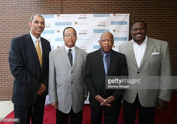 William F Jones Vice President of Chrysler Financial Dr Ben Chavis Congressman John Lewis D Ga and Johnny Furr Jr of AnheuserBusch