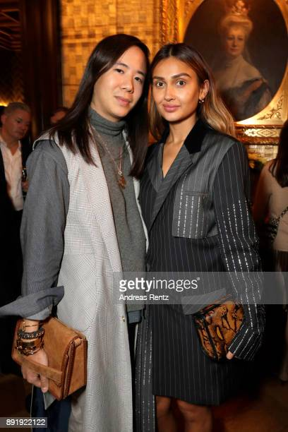 William Fan and Wana Limar attend the GQ Bar opening at Patrick Hellmann Schlosshotel on December 13 2017 in Berlin Germany