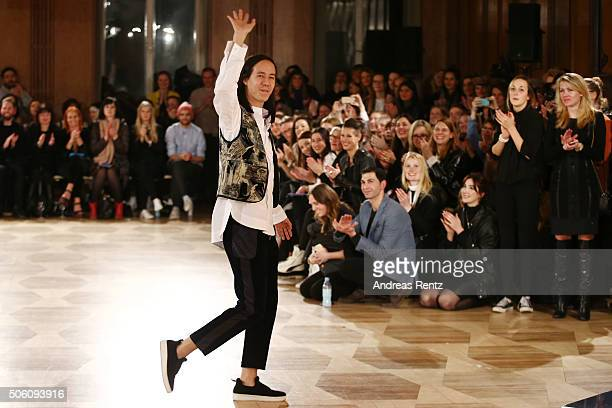 William Fan attends his show as part of Der Berliner Mode Salon during the MercedesBenz Fashion Week Berlin Autumn/Winter 2016 at Kronprinzenpalais...