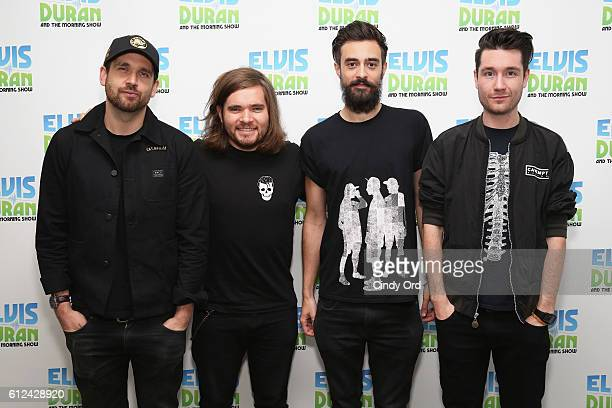 William Farquarson Chris 'Woody' Wood Kyle J Simmon and Dan Smith of Bastille visit 'The Elvis Duran Z100 Morning Show' at Z100 Studio on October 4...