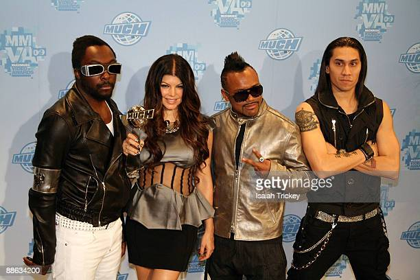 WillIAm Fergie Apldeap and Taboo of Black Eyed Peas attend the MuchMusic Video Awards on June 21 2009 in Toronto Canada