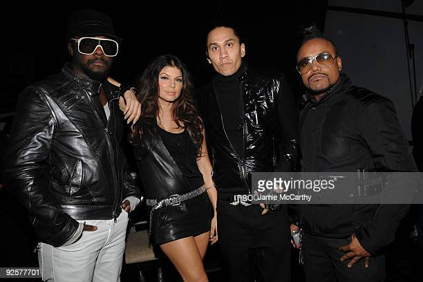 *EXCLUSIVE* William Fergie Taboo and apldeap of the Black Eyed Peas attend the 25th Anniversary Rock Roll Hall of Fame Concert at Madison Square...