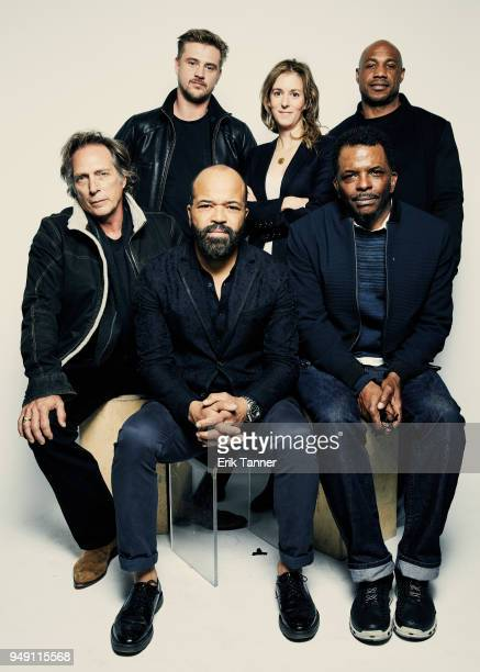 William Fichtner Boyd Holbrook Jeffrey Wright Madeline Sackler Kevin Jackson and Kareem 'Biggs' Burke of the film OG poses for a portrait during the...