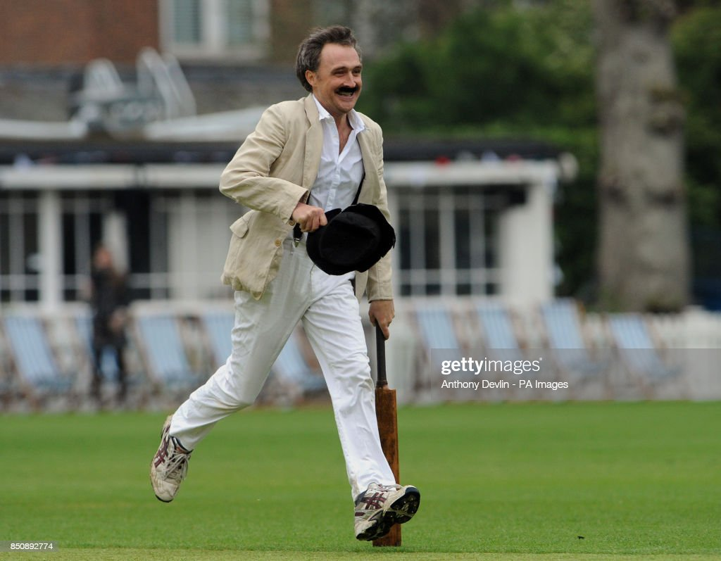 William Fiennes bats dressed in Victorian costume during the Wisden Victorian Cricket Match at Vincent Square  sc 1 st  Getty Images & 150th anniversary year of the Wisden Cricketersu0027 Almanack Pictures ...