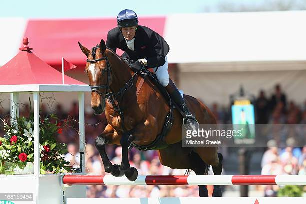 William FoxPitt of Great Britain riding Parklane Hawk during the showjumping test at Badminton horse trials on May 6 2013 in Badminton Gloucestershire