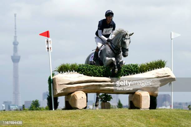 William Fox-Pitt of Great Britain riding Summer At Fernhill competes in the Cross-Country during day two of the Equestrian Tokyo 2020 Test Event at...