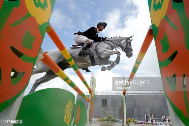 William Fox-Pitt of Great Britain riding Summer At Fernhill competes in the Jumping during day three of the Equestrian Tokyo 2020 Test Event at the...