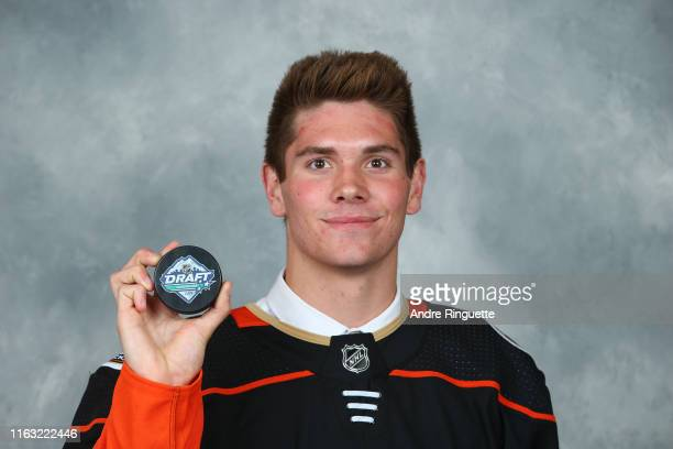 William Francis 163rd overall pick of the Anaheim Ducks poses for a portrait during Rounds 27 of the 2019 NHL Draft at Rogers Arena on June 22 2019...
