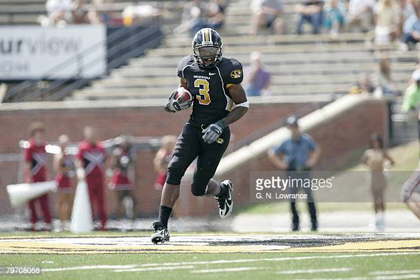 William Franklin of the Missouri Tigers looks for running room during a game against the Troy Trojans at Memorial Stadium in Columbia Missouri on...
