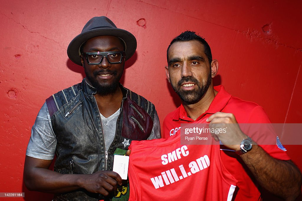 will.i.am Meets With Indigenous AFL Players