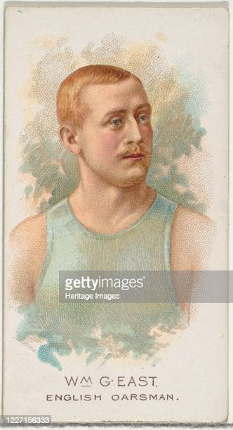 William G East English Oarsman from World's Champions Series 2 for Allen Ginter Cigarettes 1888 Artist Allen Ginter