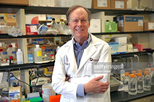 William G Kaelin Jr poses for a portrait in the lab at the DanaFarber Cancer Institute in Boston on Oct 7 2019 Kaelin was awarded the Nobel Prize for...