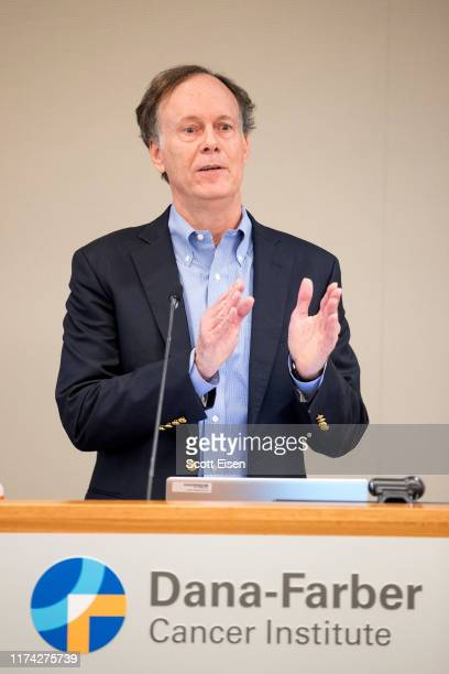 William G Kaelin Jr recipient of the 2019 Nobel Prize in Physiology or Medicine speaks at Dana Farber Cancer Institute on October 7 2019 in Boston...