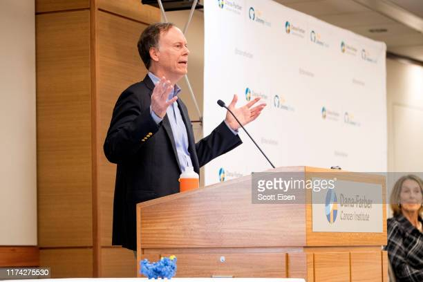 William G Kaelin Jr shared recipient of the 2019 Nobel Prize in Physiology or Medicine speaks at Dana Farber Cancer Institute on October 7 2019 in...