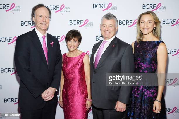 William G Kaelin Myra Biblowit William P Lauder and Kinga Lampert attend the Breast Cancer Research Foundation New York symposium awards luncheon on...