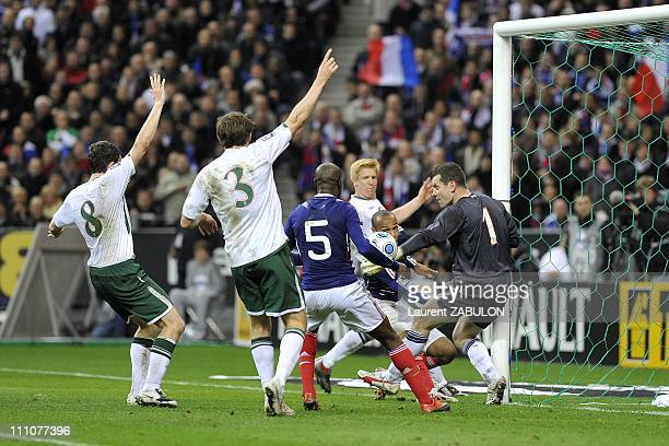 William Gallas and Thierry Henry at World Cup 2010 qualifying football match France vesus Ireland Republic of Ireland at the Stade de France in...