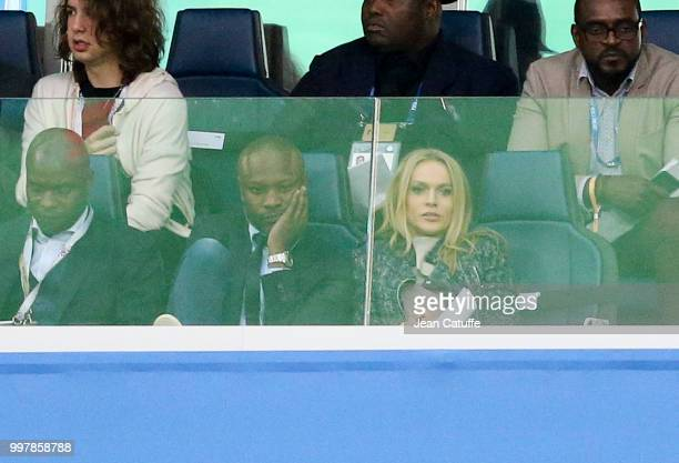 William Gallas attends the 2018 FIFA World Cup Russia Semi Final match between France and Belgium at Saint Petersburg Stadium on July 10 2018 in...