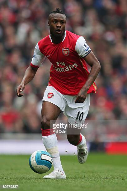 William Gallas of Arsenal in action during the Barclays Premier League match between Arsenal and Reading at the Emirates Stadium on April 19 2008 in...