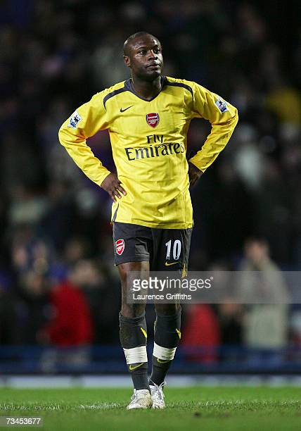 William Gallas of Arsenal shows his dejection following his team's defeat at the end of the FA Cup sponsored by E.ON 5th Round Replay match between...
