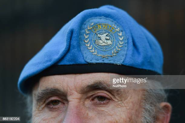 William Gilbert from Gorey one of many retired Irish Army and UN Veterans stands outside the Leinster House during a 24 hour vigil in protest at pay...