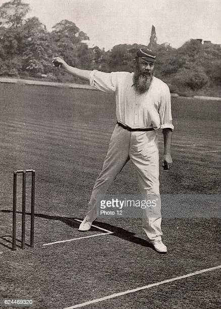 William Gilbert Grace English first-class cricketer and physician, born at Downend near Bristol. His career lasted from 1864-1908. Halftone from a...